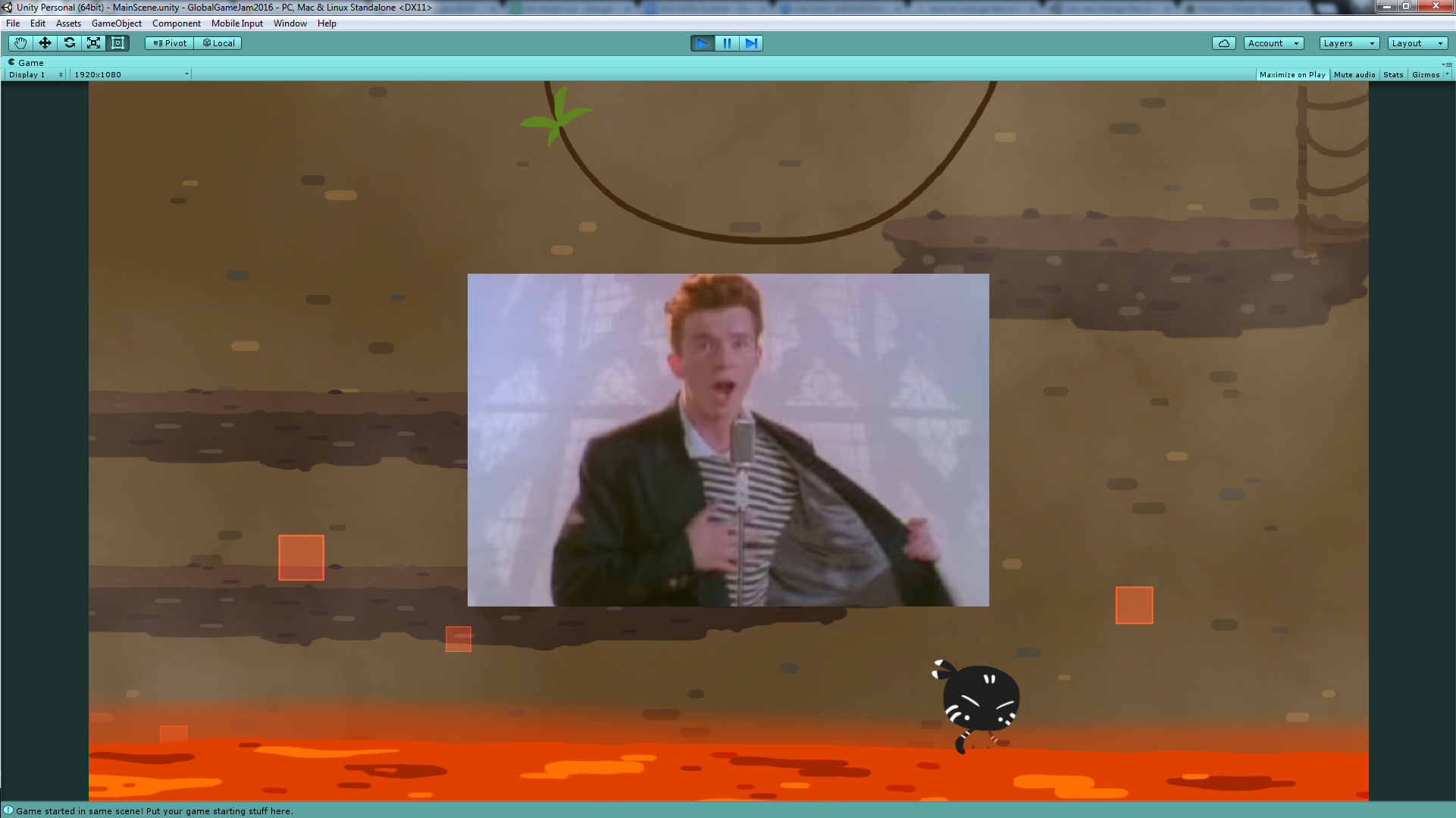 Replacing some assets by Rick Astley made us remember to put some assets